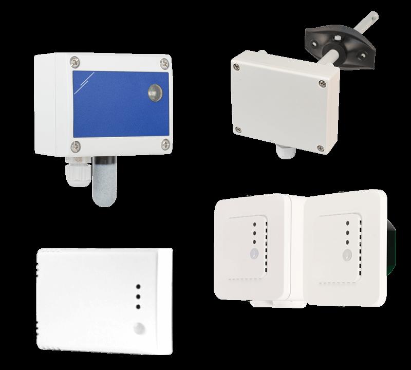 Intelligent HVAC sensors